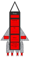 Space Rocket Book Report Projects and Writing Templates