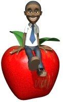Back To School Elementary Man Teacher With Apple