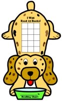 Dog and Puppy Reading Sticker Charts and Templates For Students