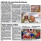 Veterans Day Newspaper Example: Our Veterans, Our Stories Newspapers in Education Supplement