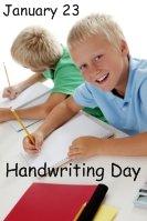 National Handwriting Day January 23