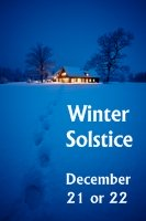 Winter Solstice December 21 First Day of Winter