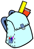 Back to School Student Book Bag Writing Templates Blue