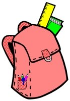 Back to School Student Book Bag Writing Templates Red