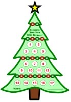 Christmas Tree Sticker Charts and Templates for Kids