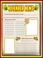 Fall Newspaper November Writing Prompts Printable Worksheet