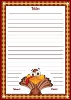 Thanksgiving Turkey November Writing Prompts Printable Worksheet