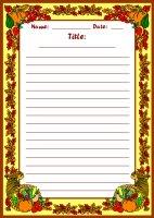 Fall Harvest November Writing Prompts Printable Worksheet