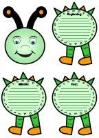 Caterpillar Shaped Story Writing Templates