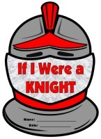 If I Were a Knight Helmet Creative Writing Templates