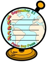 Peace Day Acrostic Poem Globe Templates