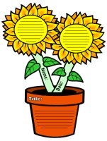 Sun Flower Shaped Writing Templates and Worksheets