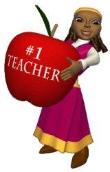 Back To School Teacher With Apple
