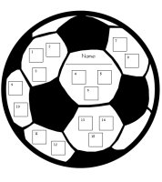 Soccer Sports Theme Incentive and StickerCharts