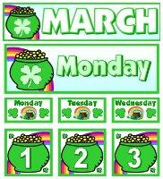 Free March Calendar Set Download