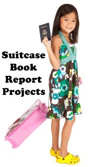 Suitcase Book Report Projects Elementary Girl Student