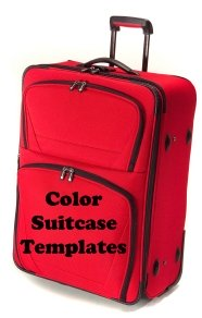 Suitcase Book Report Projects Color Templates