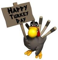 Happy Turkey Day Thanksgiving Sign
