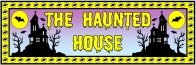 Halloween Haunted House Bulletin Board Display Banner