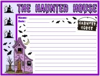 Halloween Haunted House Printable Worksheets for Language Arts