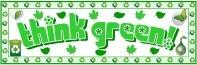 Think Green Recycling Environmental Bulletin Board Display Banner