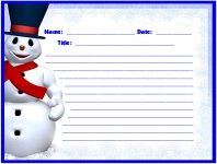 Our Frosty Winter Stories Printable Worksheets for Language Arts