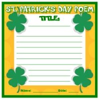St. Patrick's Day Poem and Poetry Writing Worksheet