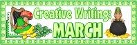 St. Patrick's Day Creative Writing Bulletin Board Display Banner