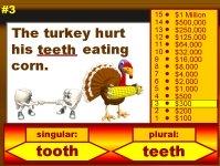 Thanksgiving Grammar Singular and Plural Words Powerpoint Lesson Plan