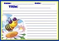 Spring Busy Bee Creative Writing Worksheet