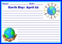 Spring Earth Day April 22 Printable Worksheet