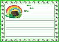 St. Patrick's Day Pot of Gold Creative Writing Printable Worksheet