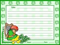 St. Patrick's Day Shamrock Creative Writing Printable Worksheet