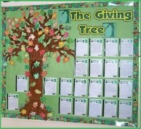 The Giving Tree Bulletin Board Display Example