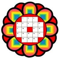 Flower Sticker Chart Rainbow Templates
