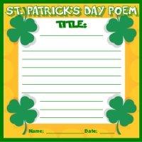 St. Patrick's Day Poem Printable Worksheet