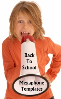 Back to School Circus Megaphone Writing Templates and Worksheets