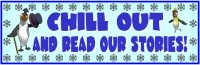 Winter Penguin Stories Bulletin Board Display Banner