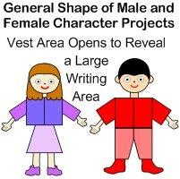 Roald Dahl Character Body Book Report Project Templates