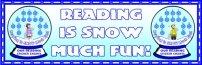 Winter Snow Globe Reading Sticker Chart Template