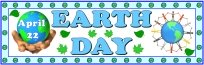 Earth Day April 22 Writing Bulletin Board Display Banner