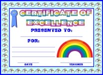 Certificate of Excellence Awards and Certificates