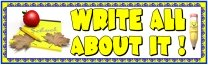 Write All About It Pencil Bulletin Board Display Banner