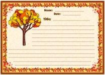 Fall Leaves November Writing Prompts Printable Worksheet