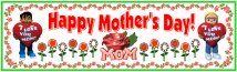 Mother's Day Flowers and Cards Bulletin Board Display Banner
