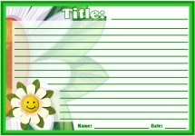 Spring Flower Creative Writing Stories Printable Worksheets for Language Arts