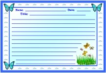 Spring Colorful Butterfly Stories Printable Worksheets for Language Arts