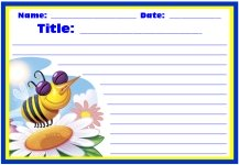 Spring Busy Bees Writing Printable Worksheets for Language Arts