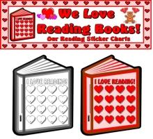 Valentine's Day Reading Sticker Charts