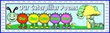 Caterpillar Shaped Poems Bulletin Board Display Banner